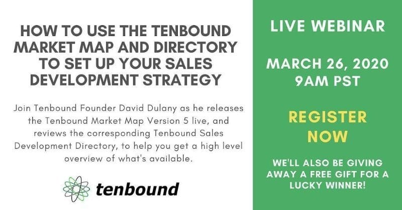 How To Use The Tenbound Market Map And Directory To Set Up Your Sales Development Strategy