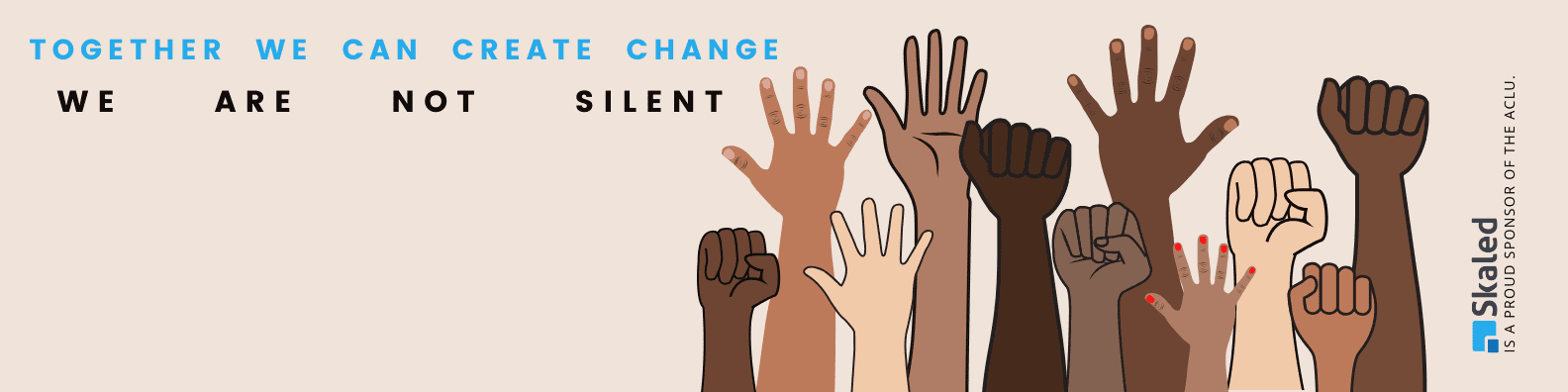 together we can create change