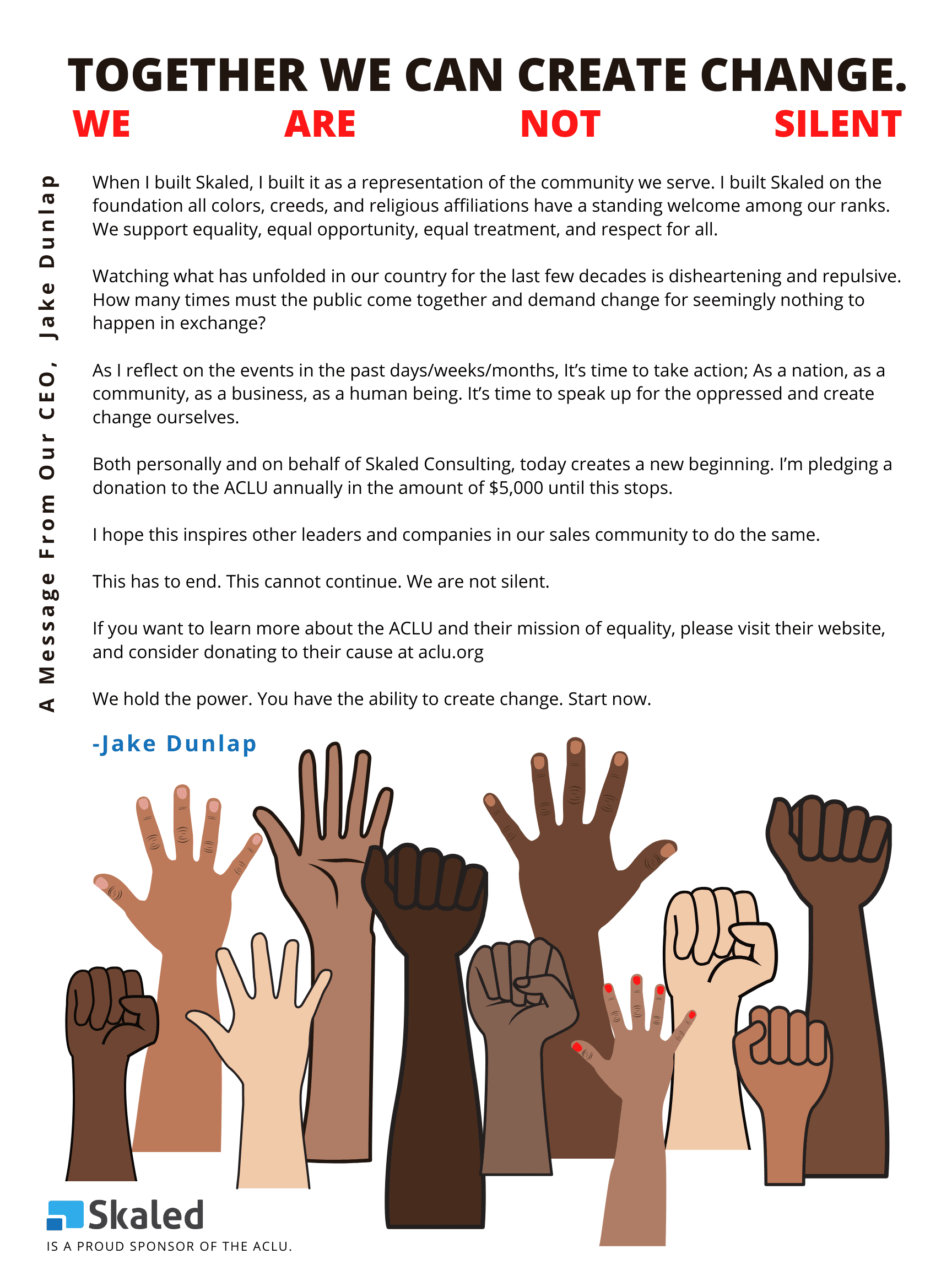 letter from our CEO